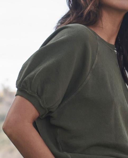 The Great - The Puff Sleeve Sweatshirt Olive