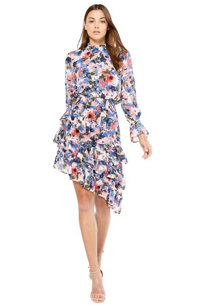 MISA - Savanna Dress in Tie Dye Floral