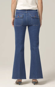 Citizens of Humanity - Maisie Patch Pocket Flare Jeans in Zenith