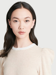 Frame - Rib Feminine Sweater in Oatmeal Heather