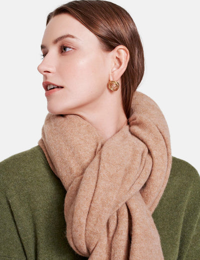 White + Warren - Travel Wrap in Camel Heather