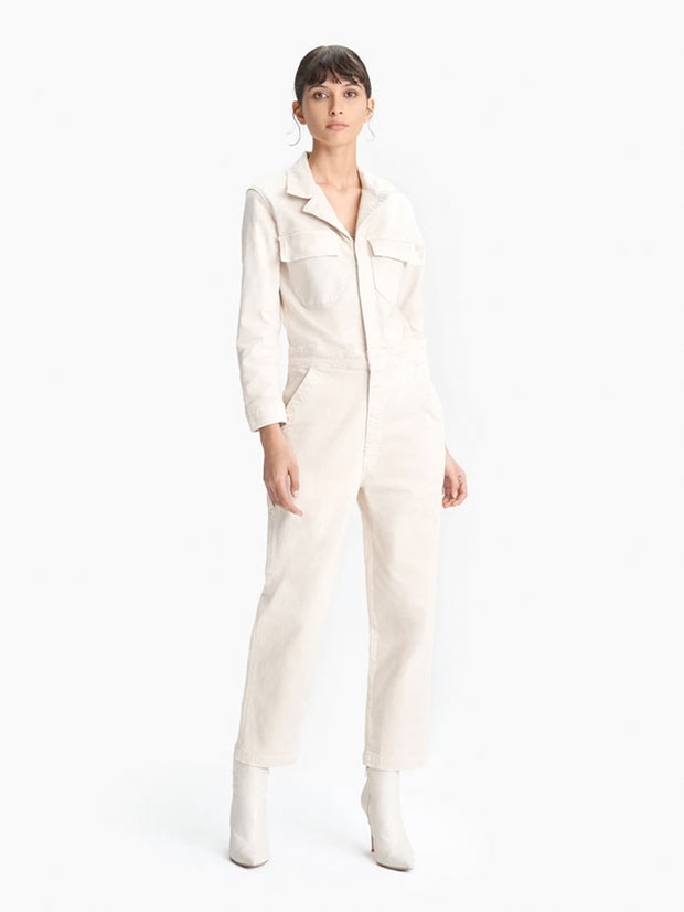 Mother Denim - The Fixer Jumpsuit in Birch