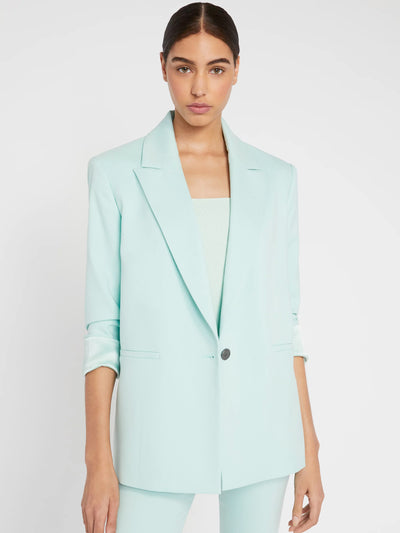 Alice + Olivia - Denny Notch Collar Boyfriend Blazer w/ RL Cuff in Mint