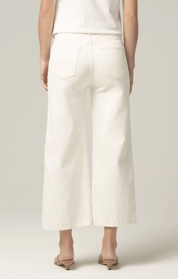 Citizens of Humanity - Sacha Wide Leg Pants with Side Braid in White Willow