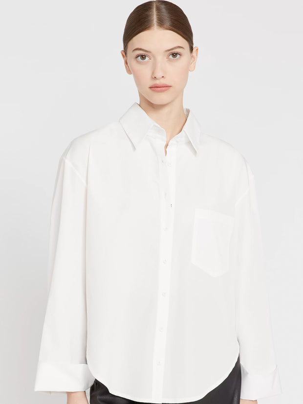 Alice + Olivia - Finely Oversized Button Down Shirt Off White