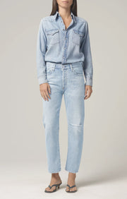 Citizens of Humanity - Jules Slim Western Shirt in Sweet Thing