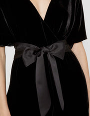 Alice and Olivia - Breanna Wrap Jumpsuit with Satin Belt