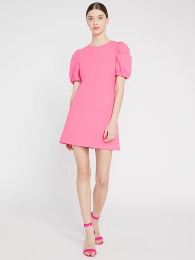 Alice + Olivia - Hanita Short Puff Sleeve Shift Dress in Wild Pink