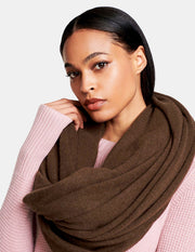 White + Warren - Travel Wrap in Chestnut Heather