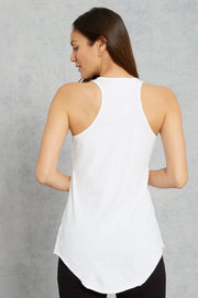 Frank & Eileen - Base Layer Tank in White