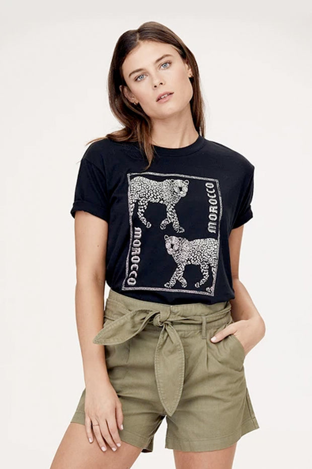 "David Lerner - ""Morocco"" Boyfriend Tee in Black"