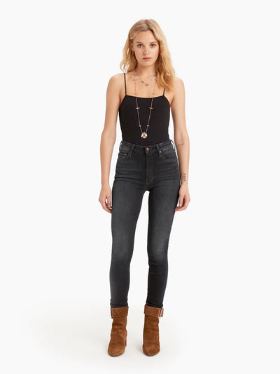 Mother Denim - High Waisted Looker Skinny Jeans in Coffee, Tea, or Me?