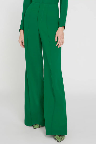 Alice + Olivia - Dylan Clean Highwaisted Wide Leg Pant in Basil
