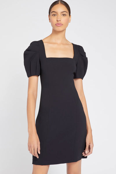 Alice & Olivia - Rachel Puff Sleeve Mini Dress in Black