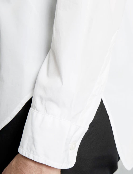 Frank & Eileen - Women L/S Button Down Shirt in White Poplin