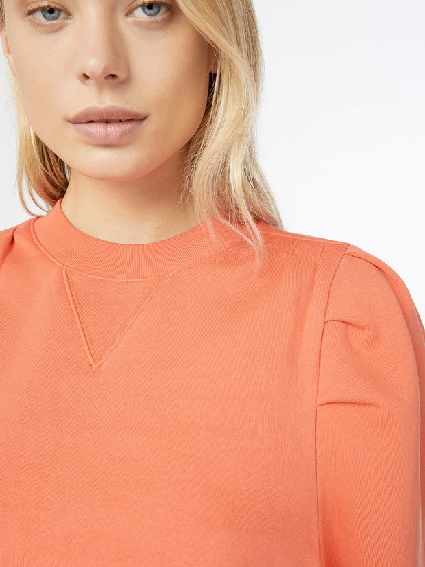 Frame - Shirred Sweatshirt in Sunkist