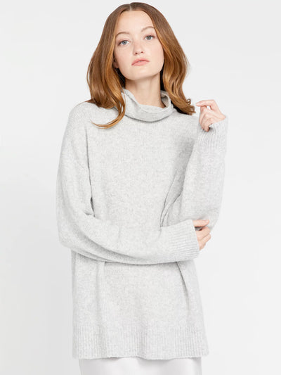 Alice + Olivia - Lucile Turtleneck Tunic Sweater LT Heather Grey