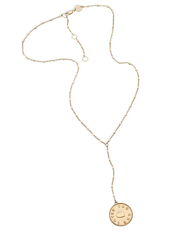 Jennifer Zeuner - Cady Lariat Necklace in Yellow Vermeil