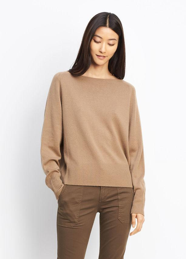 Vince - Cashmere Boat Neck Whole Wheat