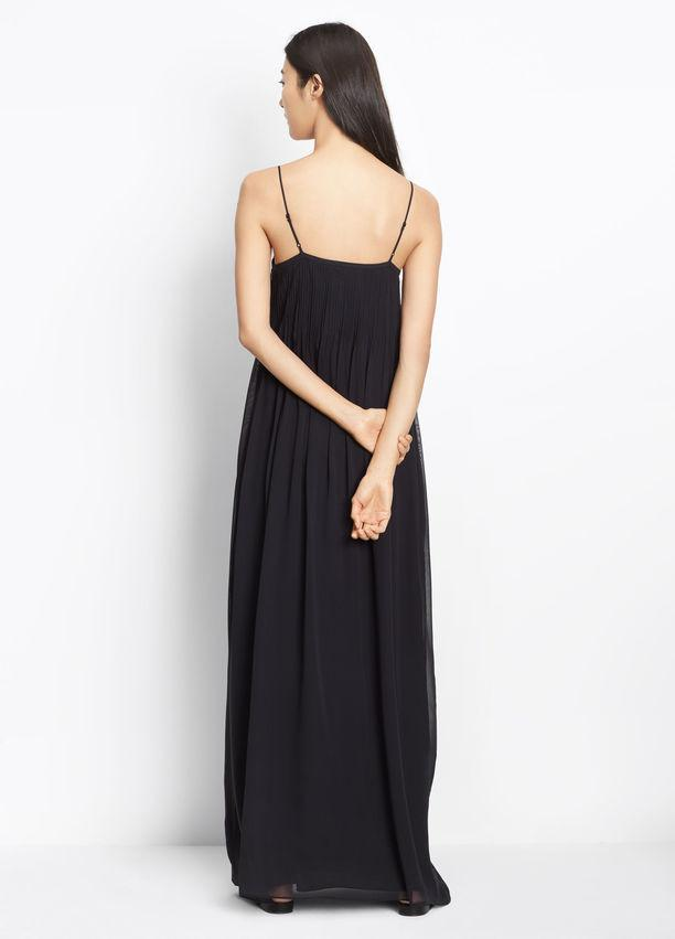 Vince - Pintuck Maxi Dress Black
