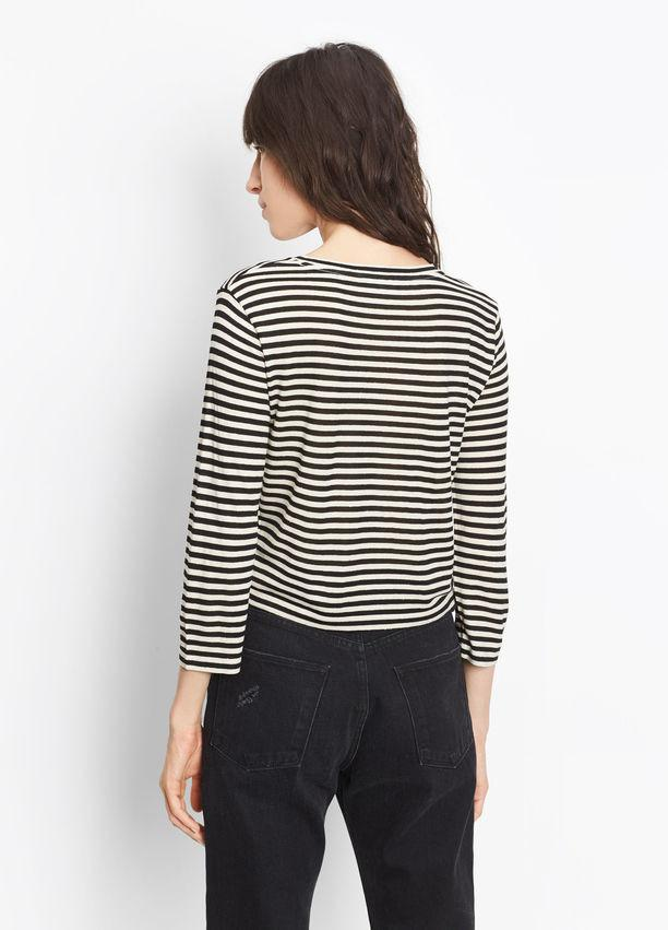 Vince - Midi Striped Cropped Tee