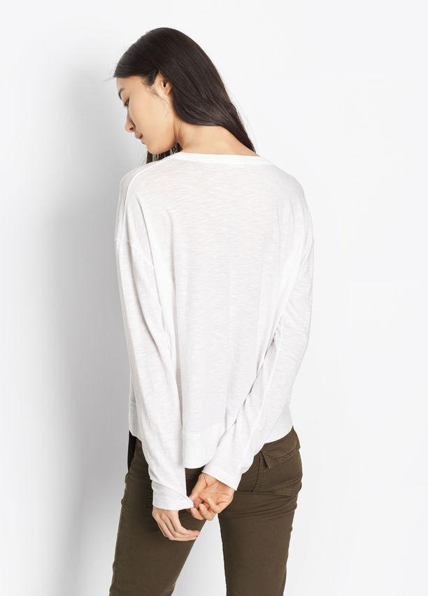 Vince - Slub Cotton Drop Shoulder Tee