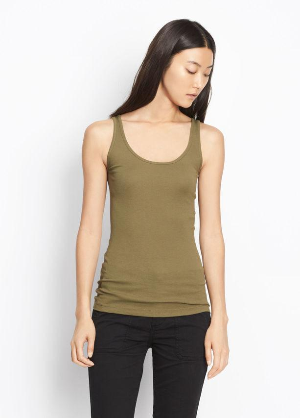 Vince - Scoop Neck Tank Olivewood