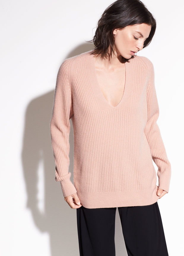 Vince - Raglan Wool and Cashmere Double V-Neck