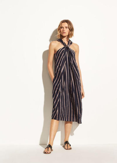 VINCE- Textured Stripe Twist Dress CBL