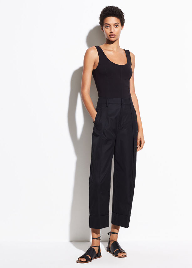 Vince - Seamed Scoop Neck Bodysuit Black