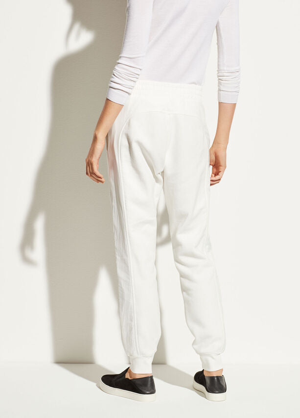 VINCE - Mixed Media Jogger in Off White