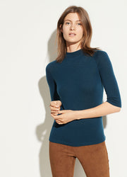VINCE - Elbow Sleeve Mock Neck in Carpinteria