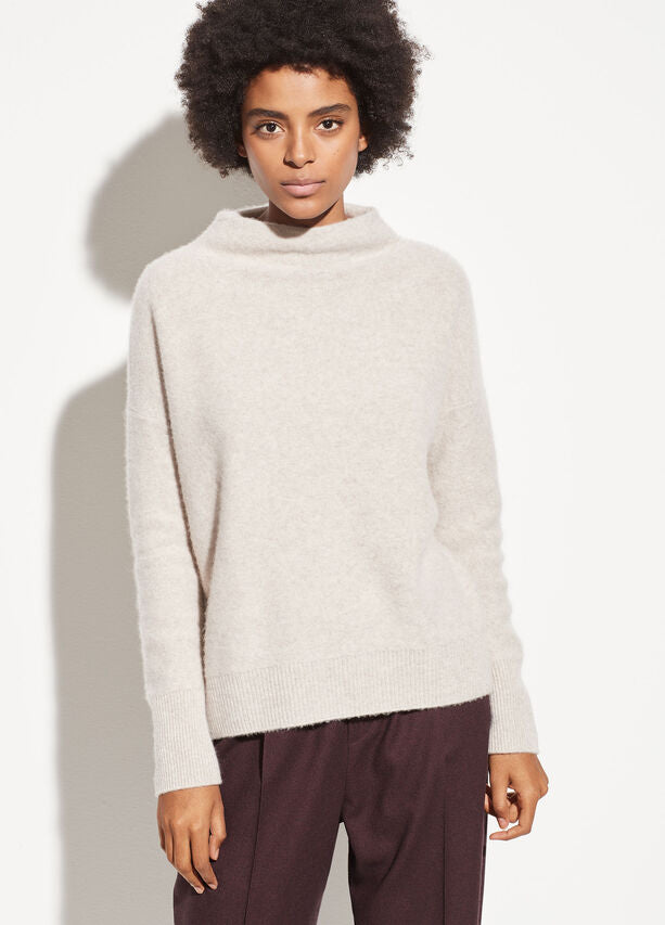 Vince - Funnel Neck Pullover in Marble