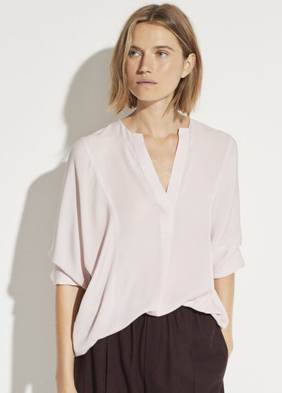 Vince - Half Placket Blouse in Rosa Seco