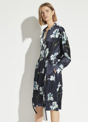 Vince - Iris Print Long Sleeve Dress in Coastal