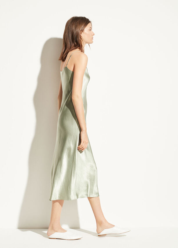 Vince - Slip Dress in Sage Flint