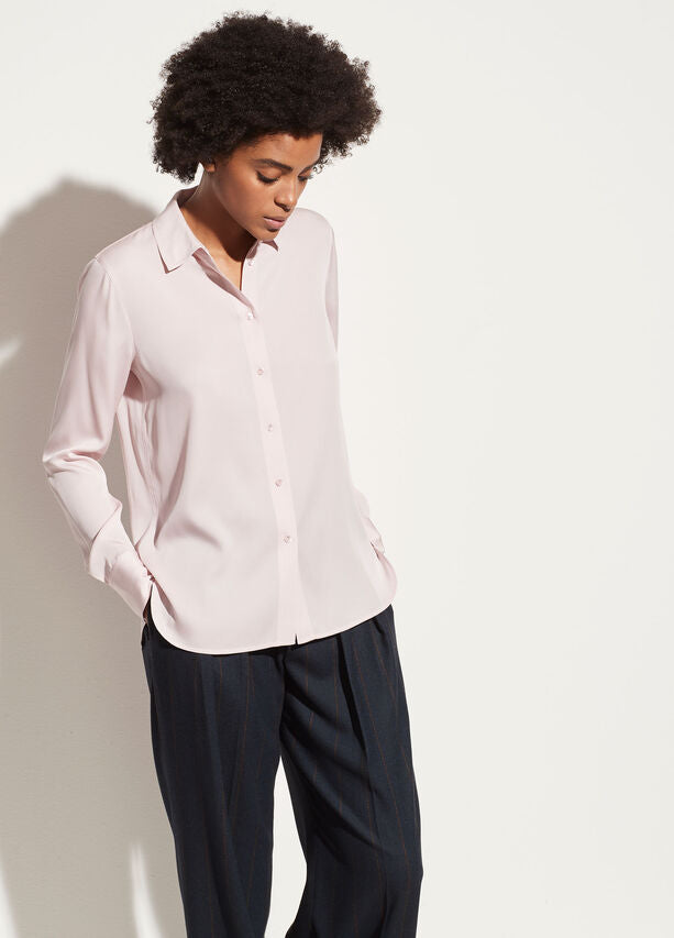 Vince - Slim Fitted Blouse in Rosa Seco