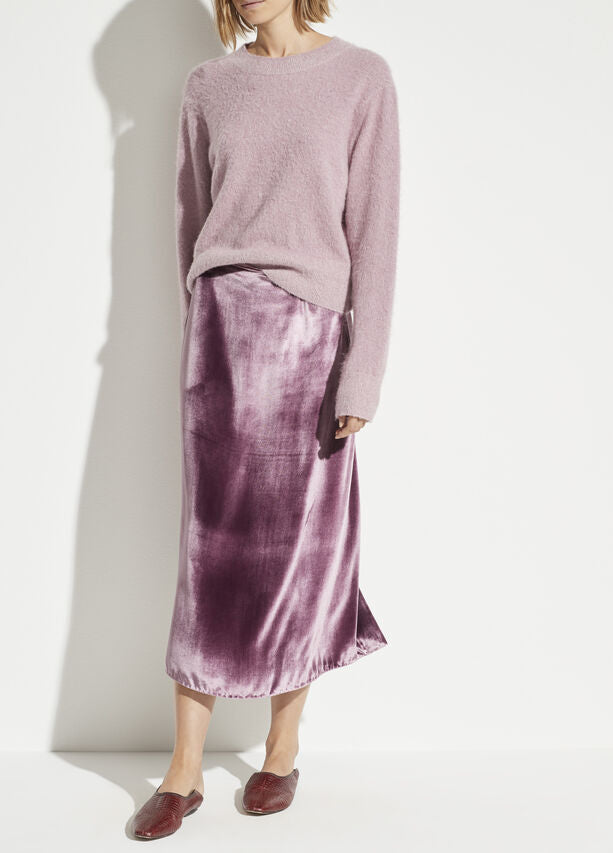 Vince - Panne Wrap Skirt in Amarena