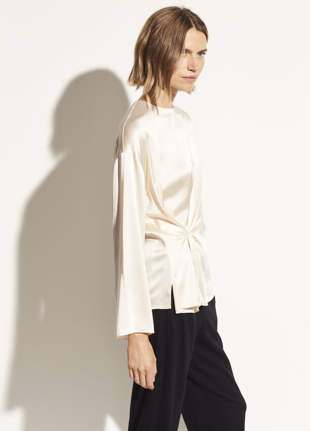 Vince - Knot Front Blouse in Chiffon