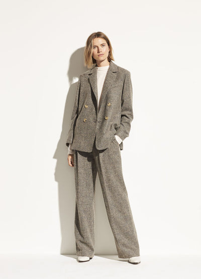 Vince - Pebble Texture Wide Leg Pant in Graphite