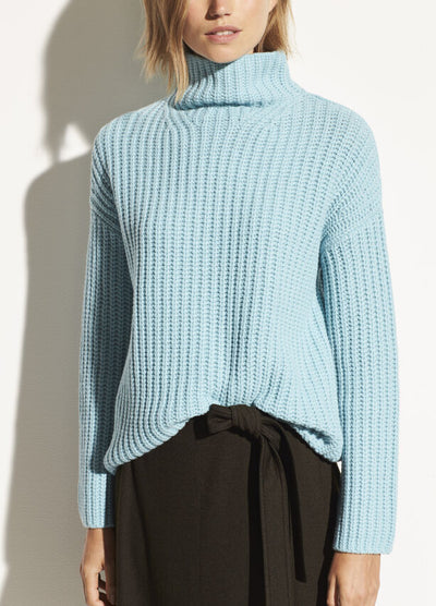 Vince - Lofty Rib Turtleneck Sweater in Aria