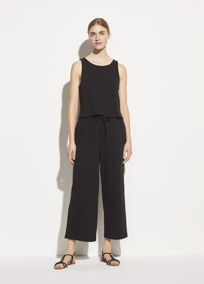 Vince - Cropped Wide Leg Pant in Black