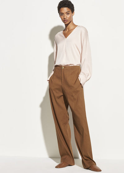 Vince - L/S V Neck Popover in Pale Petal