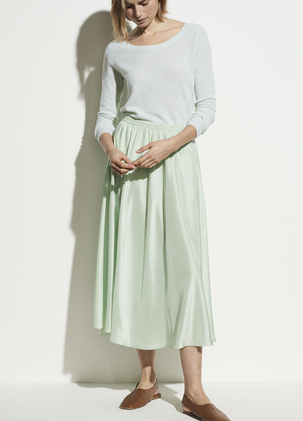 Vince - Gathered Pull-On Skirt in Sea Foam