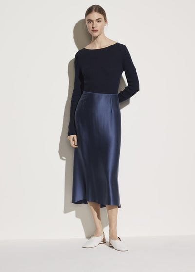 Vince - Satin Slip Skirt in Orion