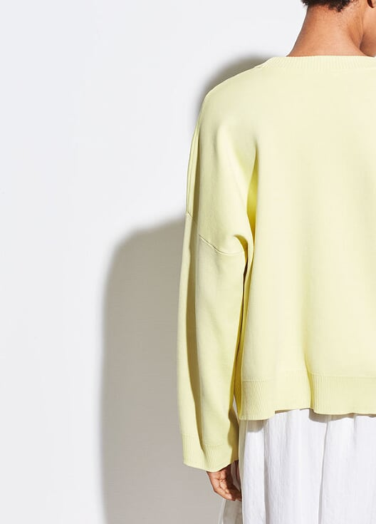 Vince - Washed Boxy Crew Lemon Glow