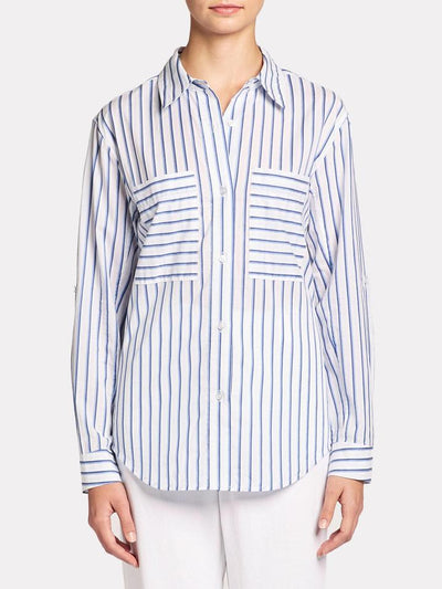 BROCHU WALKER - Vada Shirt in Dume Blue Stripe