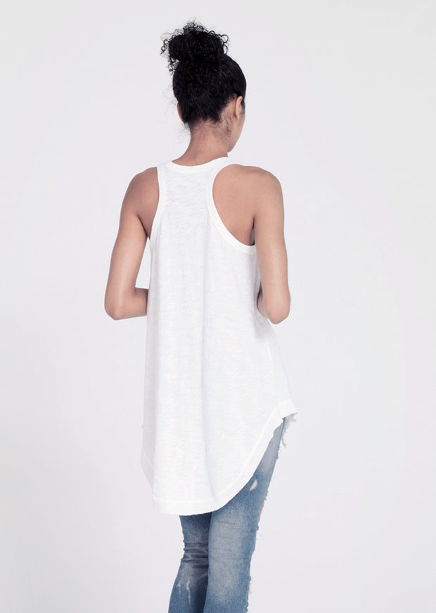 Wilt - Hanky Shirttail Tank White
