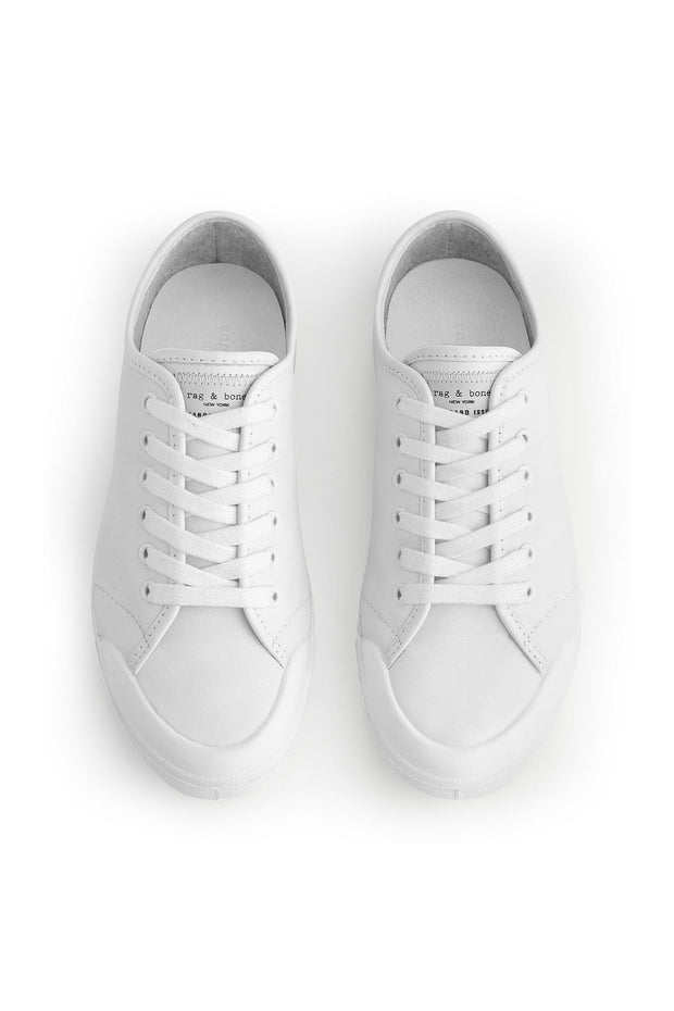 Rag & Bone Rag & Bone- Standard Issue Lace Up  White Leather at Blond Genius - 2