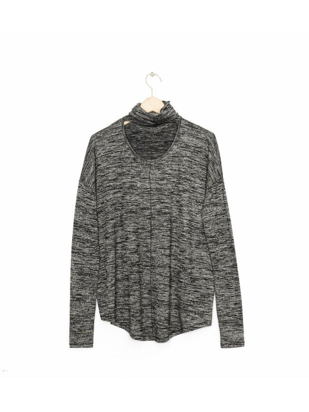 Rag & Bone Rag & Bone - CUTOUT LONG SLEEVE W266C53C7  Black Heather Grey at Blond Genius - 2